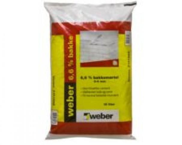 Weber Bakkemørtel 6,6% 0-4mm 15ltr