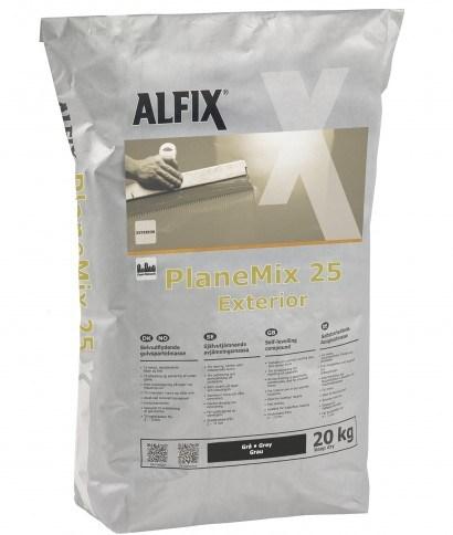 Alfix Planemix 25 Exterior 20kg. Udendørs