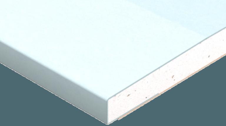 Vådrumsgips GRIE 13x900mm m/2 spartelkanter Findes i flere længder