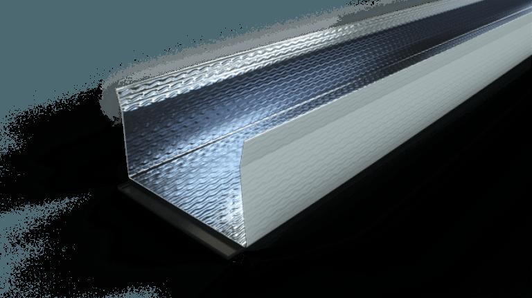 Stålskinne m/polyethen til væg/loft 2500mm Findes i flere bredder