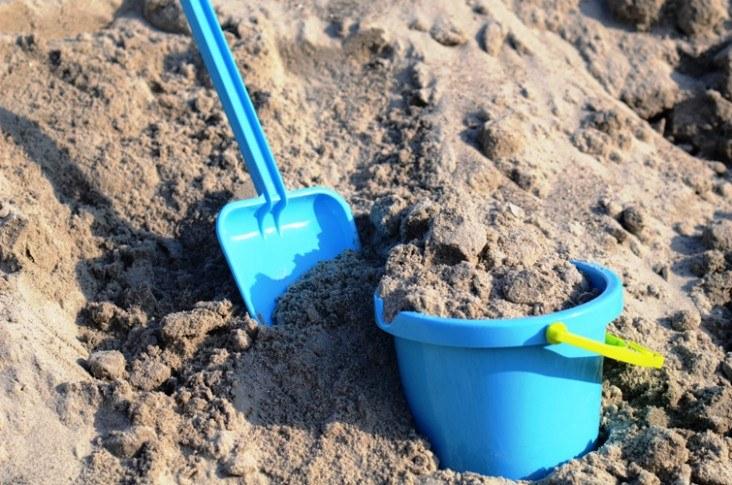 Sandkassesand 0-4mm leveres i bigbags á 500ltr på palle