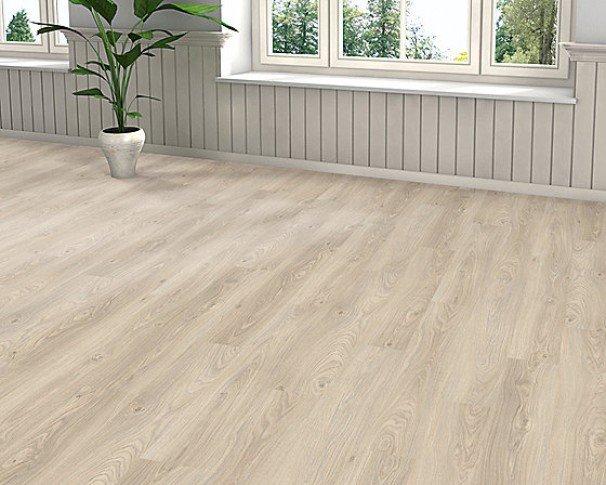 Laminatgulv EG Plank mat hvid børstet. PK2,22m2 Pris pr. pakke