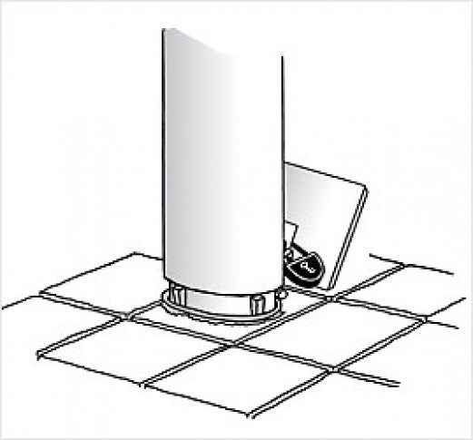 Fortovsflagstang m/beslag glasfiber