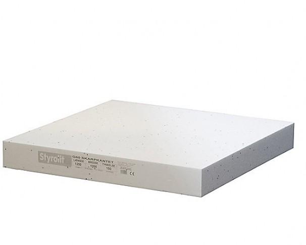 Styrolit gulvplade G60 1200x1200mm FINDES I FLERE TYKKELSER