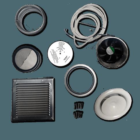 Ventilationssæt (luft ind/ud) SV30 5,1w