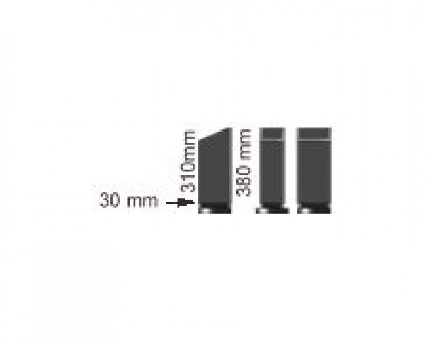 De-flex isoleringsrør m/overgang
