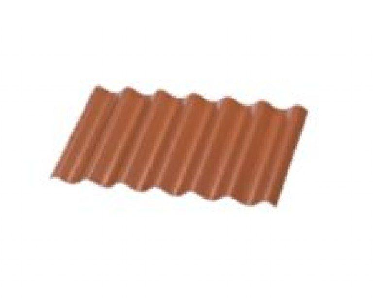 B7 Bølgeplade Cembrit Rødbrun
