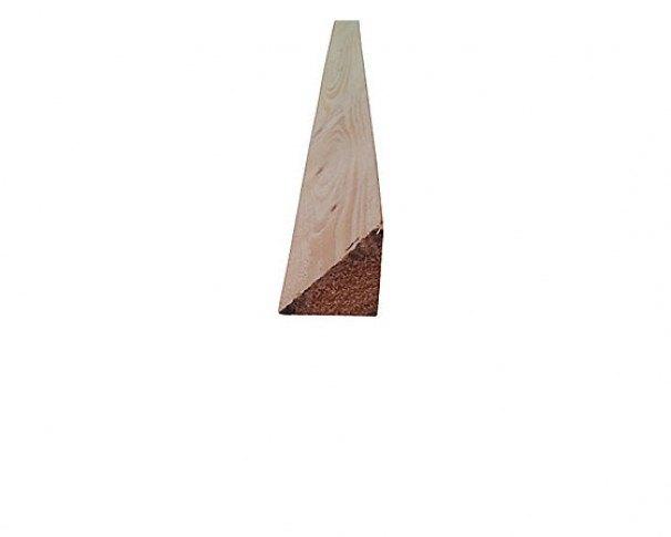 50x50mm trekantsliste m/endenot RU