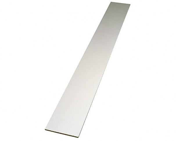 Hobbyplade melamin 2 hvide kanter 18x2480mm Findes i flere bredder