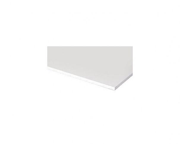Hobby board melamin 2 hvide kanter. 16x600x2480mm