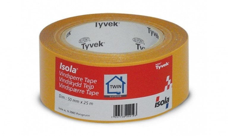 Vindspærretape Isola TWIN 50mm x 25mtr